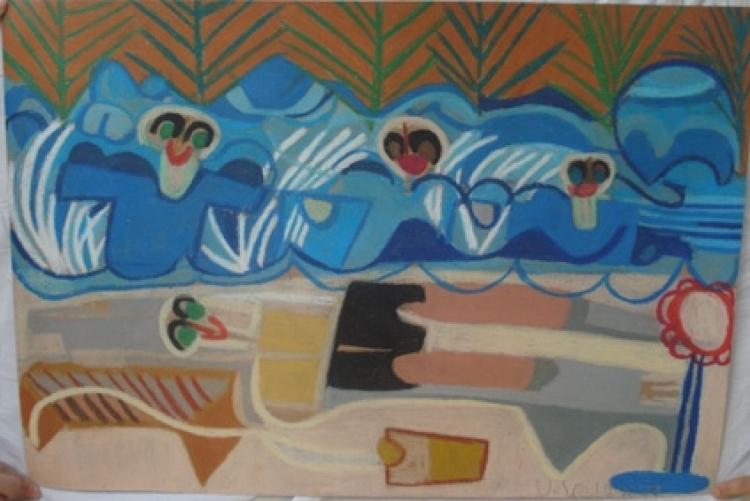 """2010: Ulrike Welz """"Strand am Meer"""" (Kraichgauer Kunstwerkstatt Sinsheim)"""